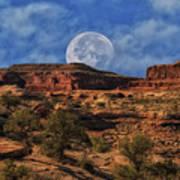 Moon Over Canyonlands Art Print