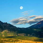 Moon Over Electric Mountain Art Print