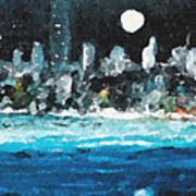 Moon Over Miami Art Print by Jorge Delara