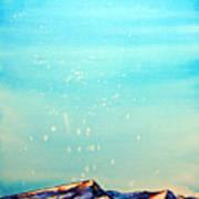 Moon Over Mountain Art Print