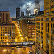 Moon Over Old Chicago Art Print