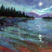 Moon Over Pend Orielle Art Print