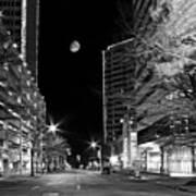Moon Over The Bottom Art Print