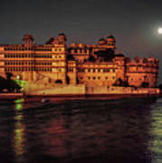 Moon Over Udaipur Art Print