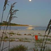 Moon Over Waties Island Art Print