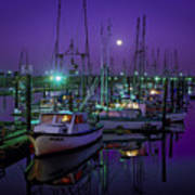 Moon Over Winchester Bay Art Print