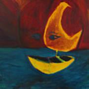Moon Ship Art Print