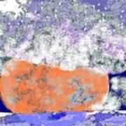 Moon Sinks Into Ocean Art Print