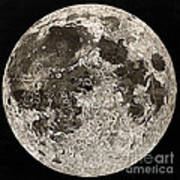 Moon Surface By John Russell Art Print