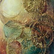 Moon Thread Art Print