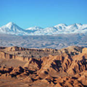Moon Valley Atacama Desert Art Print