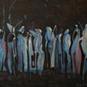 Moon Watchers Art Print by Paula Marsh
