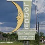 Moon Winx Lodge Sign Art Print