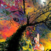 Moonbathing Art Print