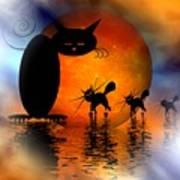 Mooncat's Catwalk Print by Issabild -