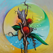 Moonflower Full Moon 6. Art Print