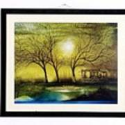 Moonlight At Masinagudi Art Print