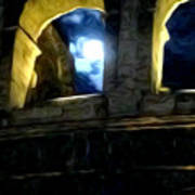 Moonlight At The Colosseum Art Print
