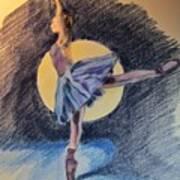 Moonlight Ballerina Art Print