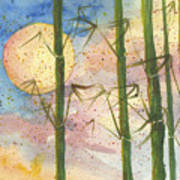 Moonlight Bamboo 2 Art Print