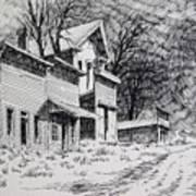 Moonlight Bannack Ghost Town Montana Art Print