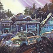 Moonlight Cabriolets Art Print