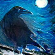 Moonlight Crow Art Print