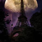 Moonlight In Paris Art Print