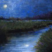 Moonlight Marsh Art Print