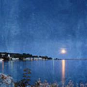 Moonlight On Mackinac Island Michigan Art Print