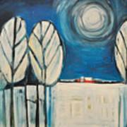 Moonlight On The First Snow Art Print