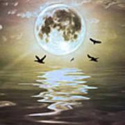 Moonlight On Water Art Print