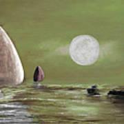 Moonlight Sailnata 2 Art Print