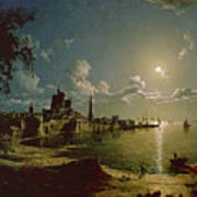 Moonlight Scene Art Print by Sebastian Pether