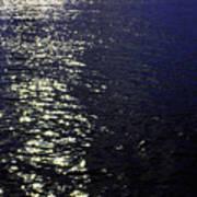 Moonlight Sparkles On The Sea Art Print