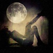 Moonlight Tanning V3 Art Print