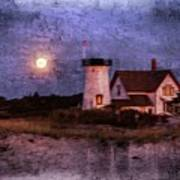 Moonlit Harbor Art Print