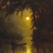 Moonlit Landscape Art Print