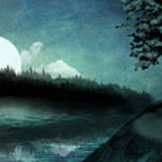 Moonlit Peace Art Print