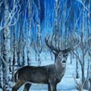 Moonlit Walk Art Print