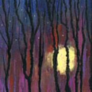 Moonrise In December Art Print