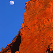 Moonrise In Grand Staircase Escalante Art Print