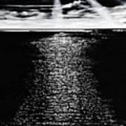 Moonrise Over The Atlantic  Art Print