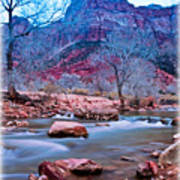 Moonrise Over Zion Art Print