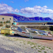 Moored Boat On Purteen Harbour Art Print