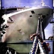 Moored Cruiseship Art Print
