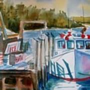 Moored Fishing Boat Art Print