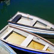 Moored Rowboats Art Print