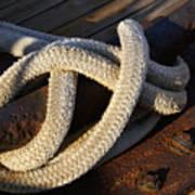 Mooring Rope Made Fast Art Print