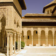 Moorish Architecture In The Nasrid Palaces At The Alhambra Granada Art Print